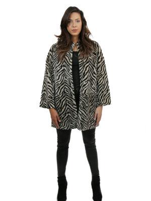 front zebra coat